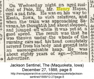Henry Hays Obit Jackson Sentinal