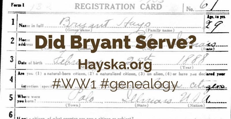 Did Bryant Serve?