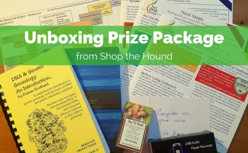 Unboxing Prize Package from Shop the Hound