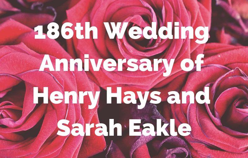 Happy Anniversary Henry & Sarah