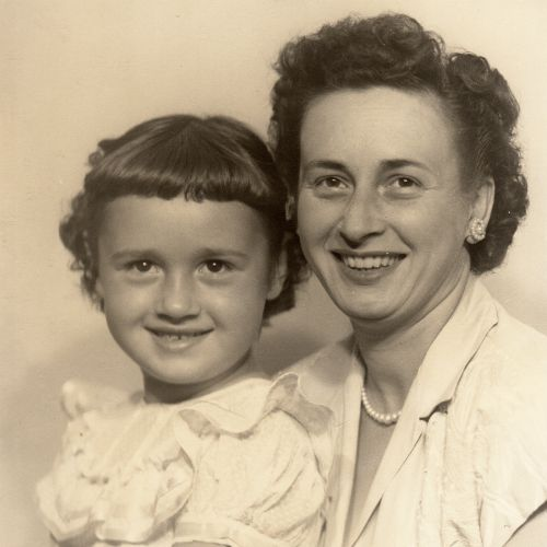 A photo of my mother and grandmother.