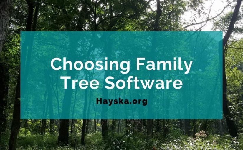 Choosing Family Tree Software